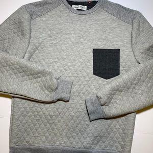 SOVEREIGN CODE Roadste Quilted Sweatshirt Gray Men